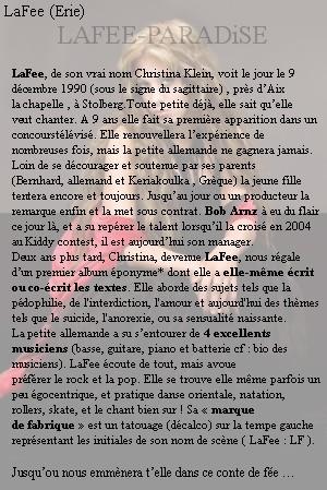 • Bi0GRAPHiE DE LAFEE • dans - LAFEE - 1474681248fm0